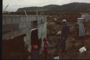 Grunnmuren til huset i 1981